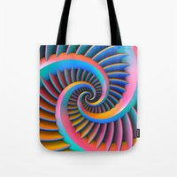 Opposing Spirals Tote Bag