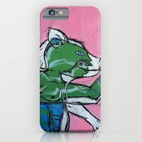 iPhone & iPod Case featuring Flailing Pig Man by Amos Duggan by Amos Duggan