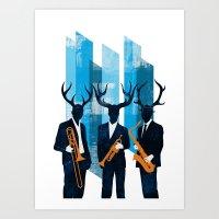 Horn Section Art Print