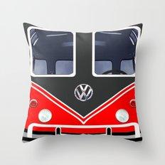 red vw volkswagen Throw Pillow