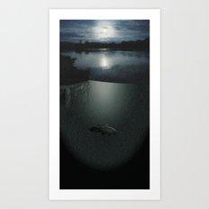 COELACANTH BY MOONLIGHT Art Print