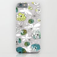iPhone & iPod Case featuring Grey Floral by Sarah Ogren