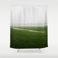 Foggy Landscape - JUSTART © Shower Curtain
