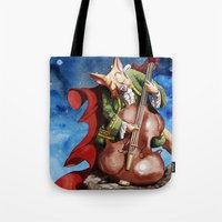 Feline counter bassist Tote Bag