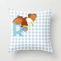 R For Roc Throw Pillow