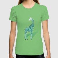 Animal Kingdom: Giraffe … Womens Fitted Tee Grass SMALL