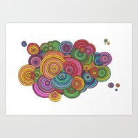 Circle Drawing Meditatio… Art Print