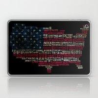 United States Flag Map W… Laptop & iPad Skin