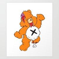 Not So Care Bear Art Print