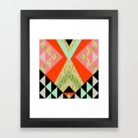 Arrow Quilt Framed Art Print