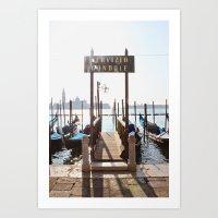 Venice: Gondola Art Print