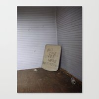 no one lives here anymore Canvas Print
