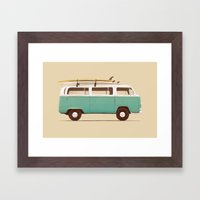 Blue Van Framed Art Print