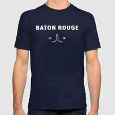 Baton Rouge Mens Fitted Tee Navy SMALL