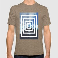 SKY ILLUSION Mens Fitted Tee Tri-Coffee SMALL