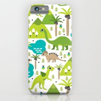 Dinosaur illustration pattern print iPhone 6 Slim Case