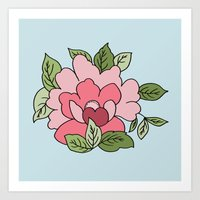 Antique Flower Art Print