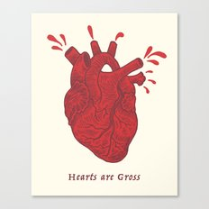 Hearts Are Gross Canvas Print