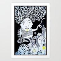 the egg  Art Print