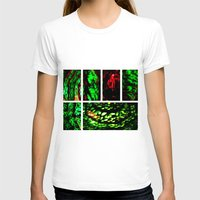 Blood Emerald Womens Fitted Tee White SMALL
