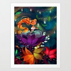 Thumbelina Art Print
