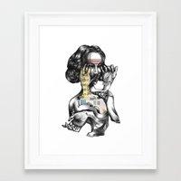 lottery girl Framed Art Print