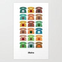 iRetro (boys) / white Art Print