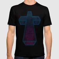 The White Cross Of Justi… Mens Fitted Tee Black SMALL