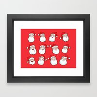 Santas Framed Art Print