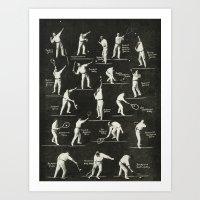gentlemen prefer tennis Art Print