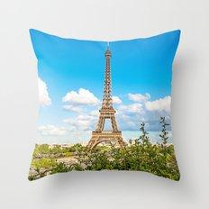 Cloud 9 - Eiffel Tower Throw Pillow