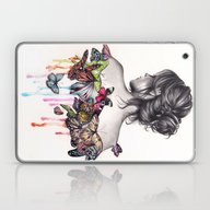 Laptop & iPad Skin featuring Butterfly Effect by KatePowellArt