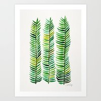 floral Art Prints featuring Seaweed by Cat Coquillette