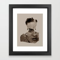 FRIDA - SHIRT version - sepia Framed Art Print