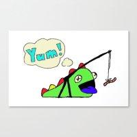 Hungry Slug Monster Canvas Print