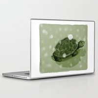 turtle Laptop & iPad Skins featuring Turtle by David Owen Breeding