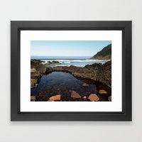 Cape Perpetua Tide Pool Framed Art Print