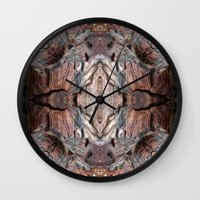Petrified Wood In Abstra… Wall Clock