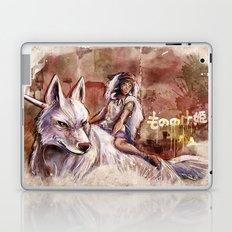 Miyazaki's Mononoke Hime - San and the Wolf TraDigital Painting Laptop & iPad Skin
