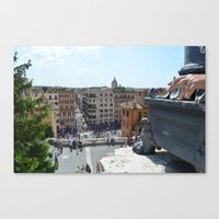 Smoker in Rome Canvas Print