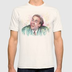Nicolas Cage You Don't Say Mens Fitted Tee Natural SMALL