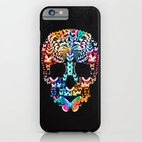iPhone & iPod Case featuring Cranium Butterflies (Black & Color Option) by Caleb Troy