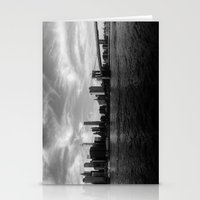 New York Skyline - Black… Stationery Cards