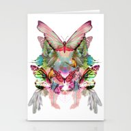 Butterfly Pattern Stationery Cards