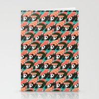 Sushi Panda Pattern Stationery Cards