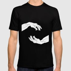hands  Black SMALL Mens Fitted Tee