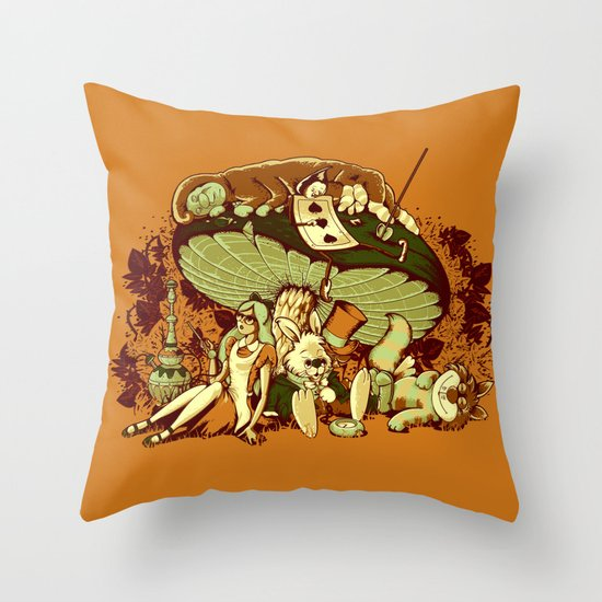 STONED IN WONDERLAND [REMIX] Throw Pillow