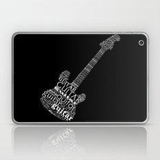Typographic Guitar Laptop & iPad Skin