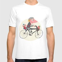 Biker Daddy Mens Fitted Tee White SMALL