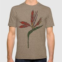 Bird Of Paradise Mens Fitted Tee Tri-Coffee SMALL